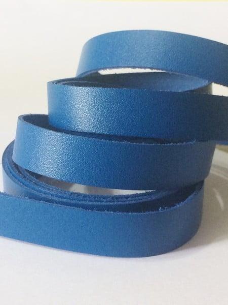 Tira de Couro Azul Royal 1,5cm