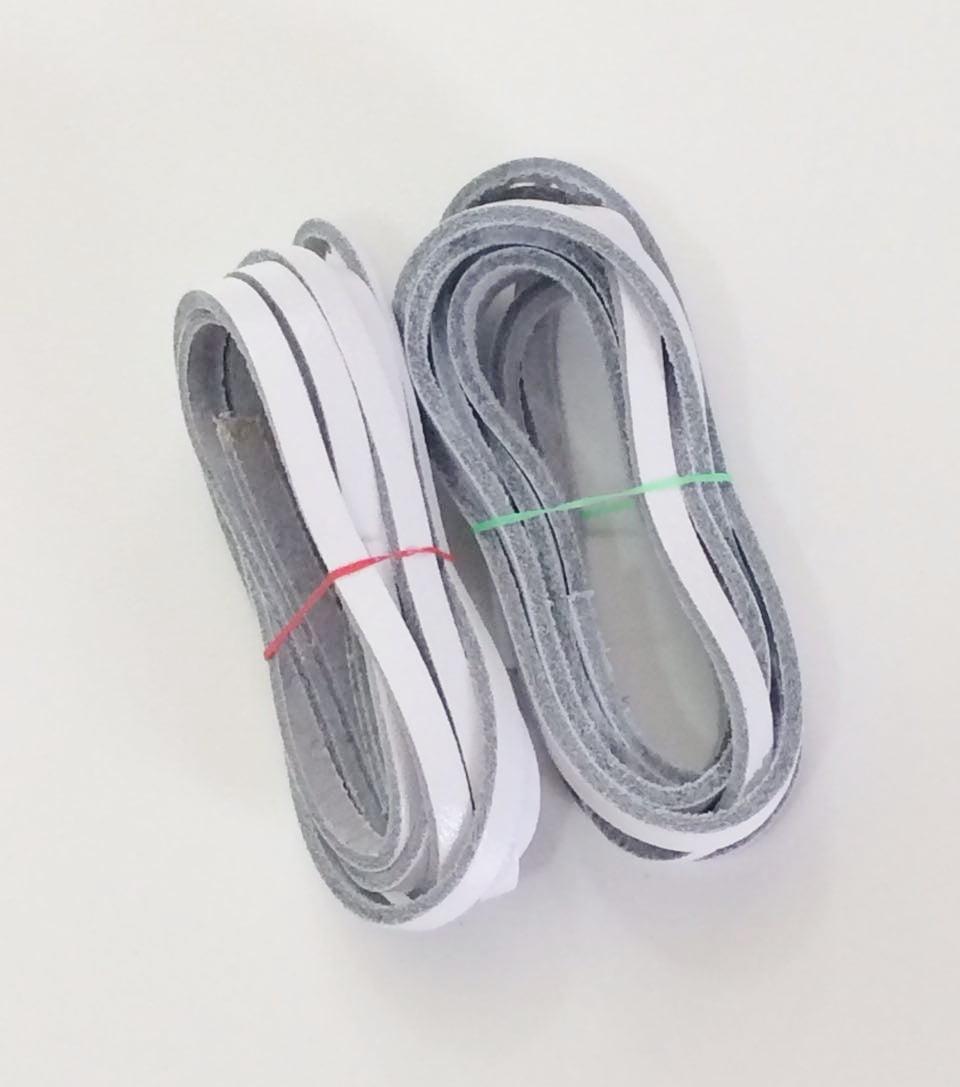 Tira de Couro Branca 0,4mm