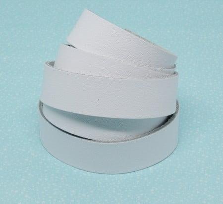 Tira de Couro Branco 2cm