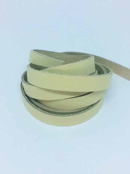 Tira de Couro Marfim 1cm