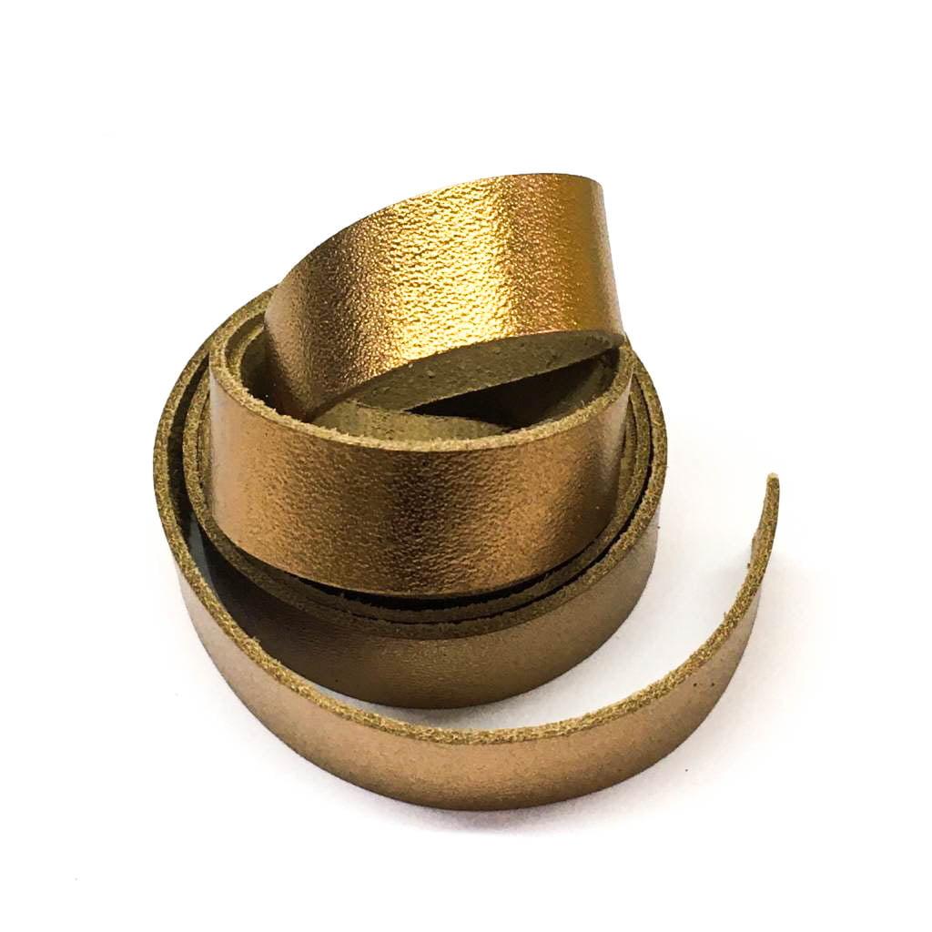 Tira de Couro Ouro Velho 2cm
