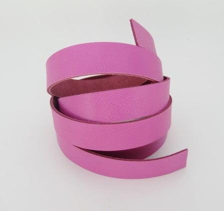 Tira de Couro Rosa Pink 1,5cm