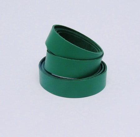 Tira de Couro Verde 2cm