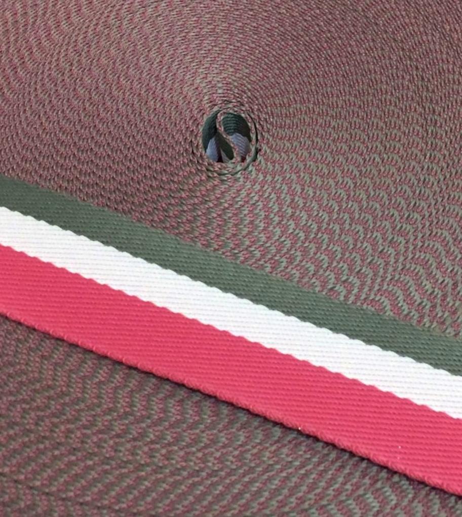 Alça Fashion Listrada Pink, Branco e Cinza 4cm