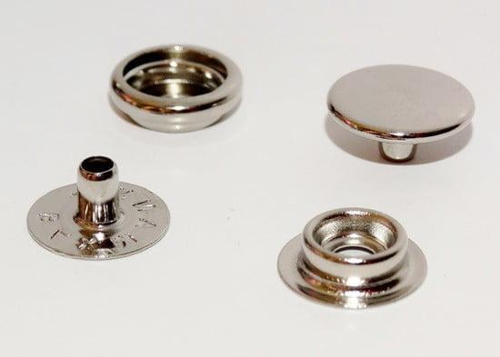 Botão de Pressão nº 80 (13mm) Niquelado