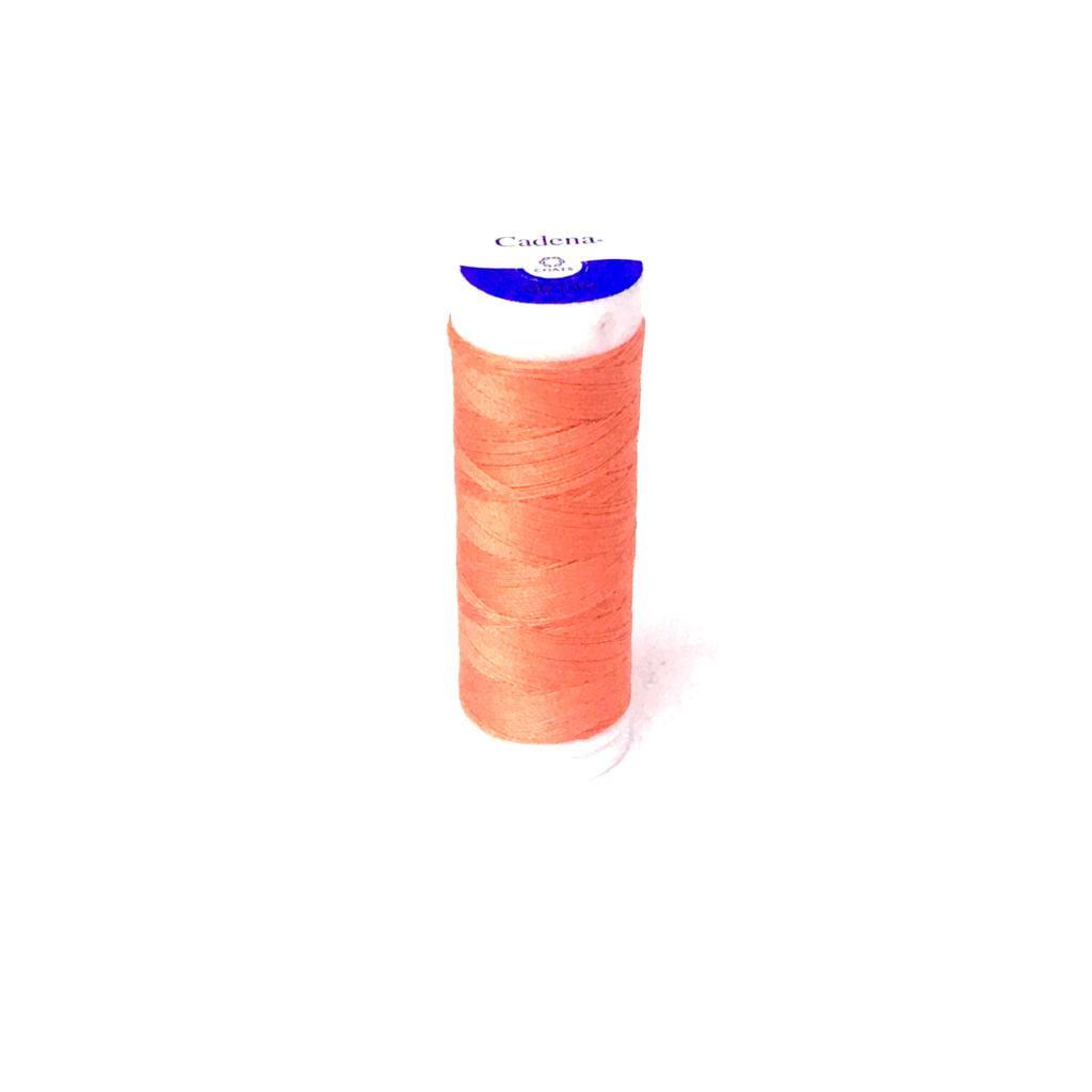 Linha Cadena para Costura 100% Algodão Cor 140 Tangerina 91,4m