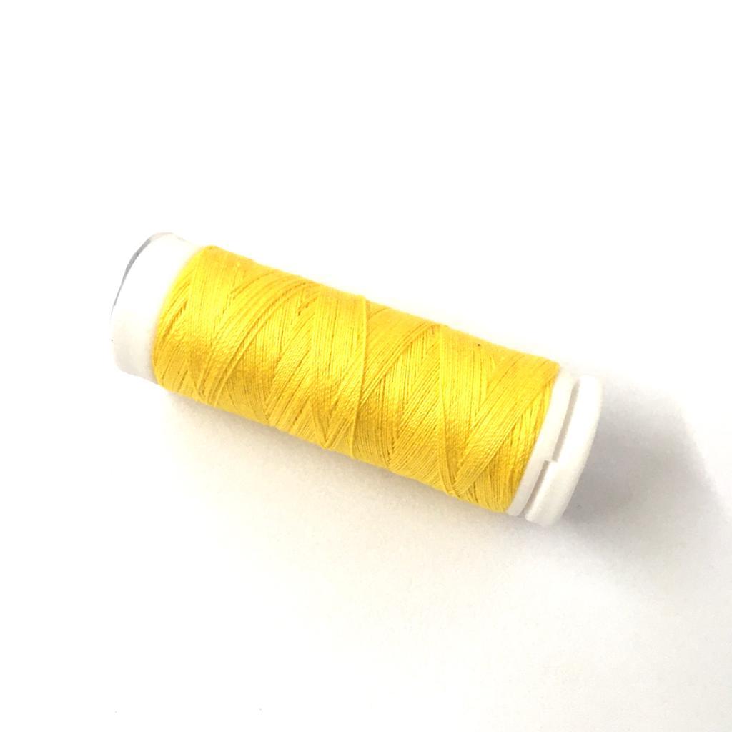Linha Cadena para Costura 100% Algodão Cor 31 Amarelo Canário 91,4m