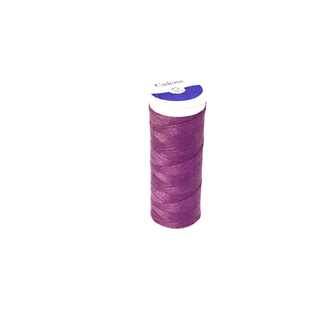 Linha Cadena para Costura 100% Algodão Cor 324 Uva 91,4m