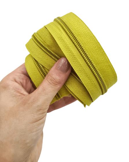 Ziper de Metro nº5 Grosso Amarelo Dourado