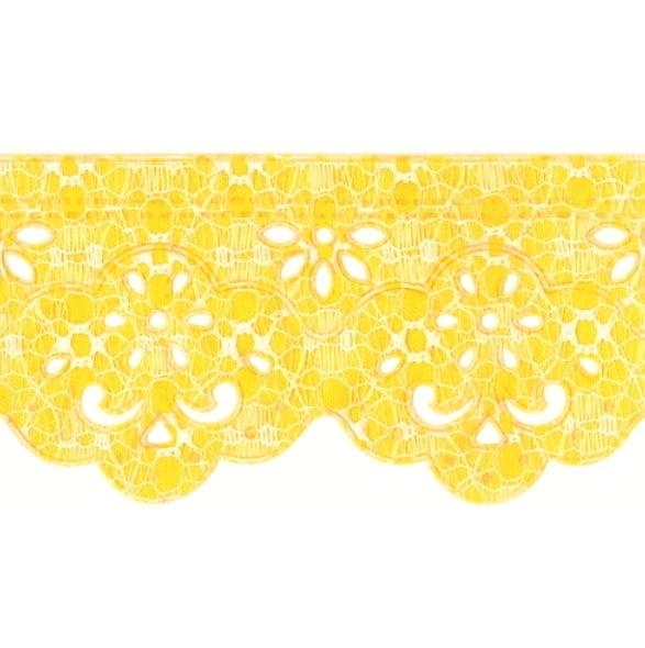 Bordado Ultra Rendado Amarelo