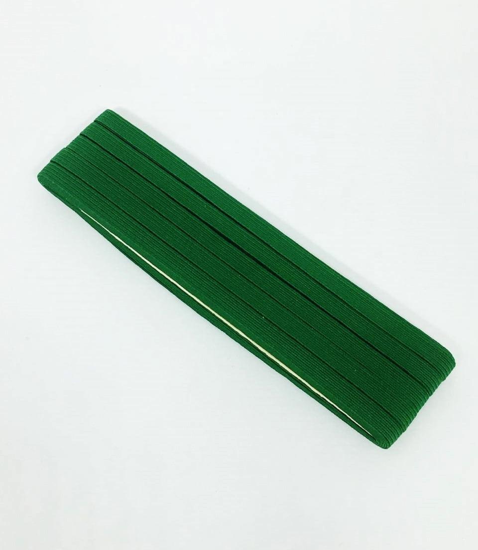 Elástico Chato Verde Bandeira 7mm
