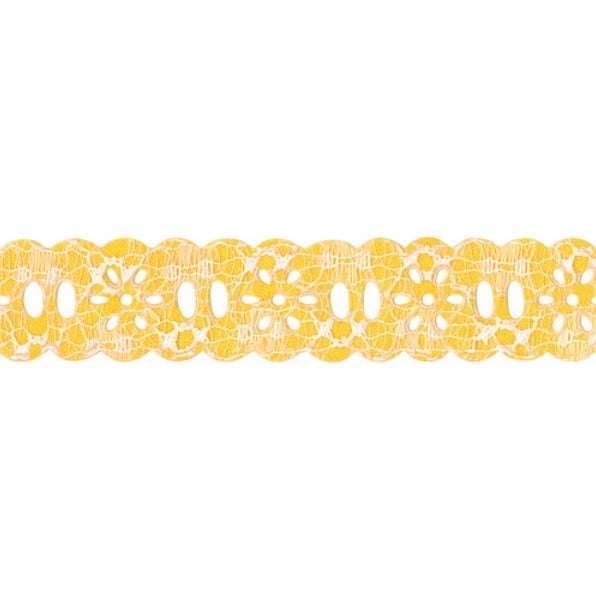 Passa Fita Margarida Rendado Amarelo