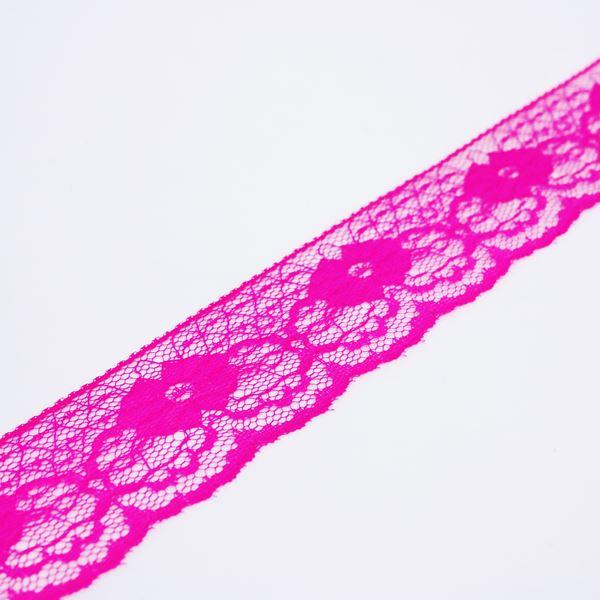 Renda de Nylon 37mm Pink