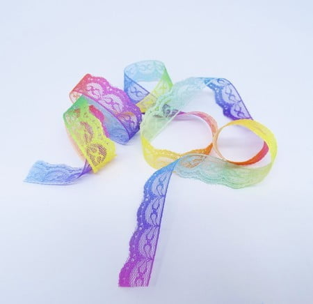 Renda de Nylon Arco Iris