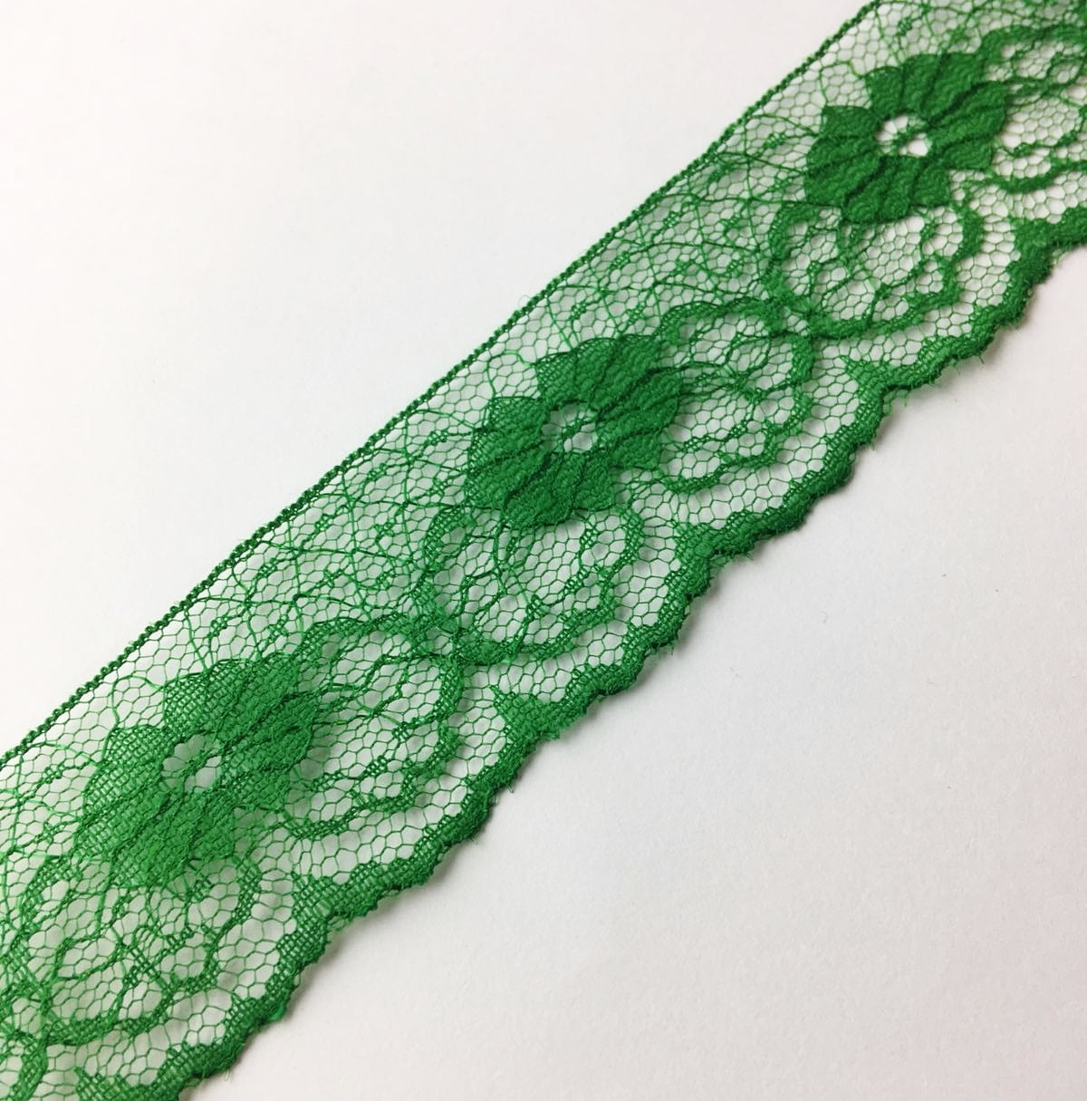 Renda de Nylon 37mm Verde