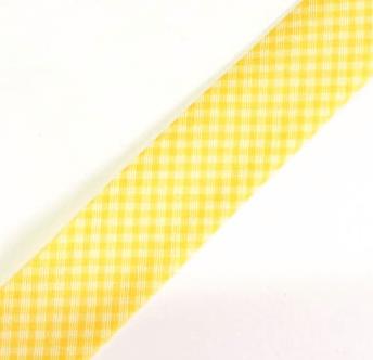 Viés Estampado Xadrez Amarelo Cor 210 (Rolo com 20 metros)