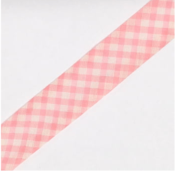 Viés Estampado Xadrez Rosa Grande Cor 217 (Rolo com 20 metros)