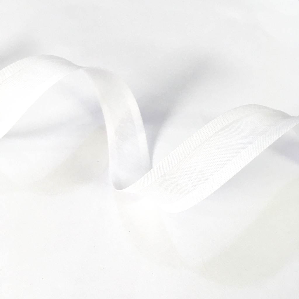 Viés Liso Branco Cor 001 (Pacote com 5 metros)