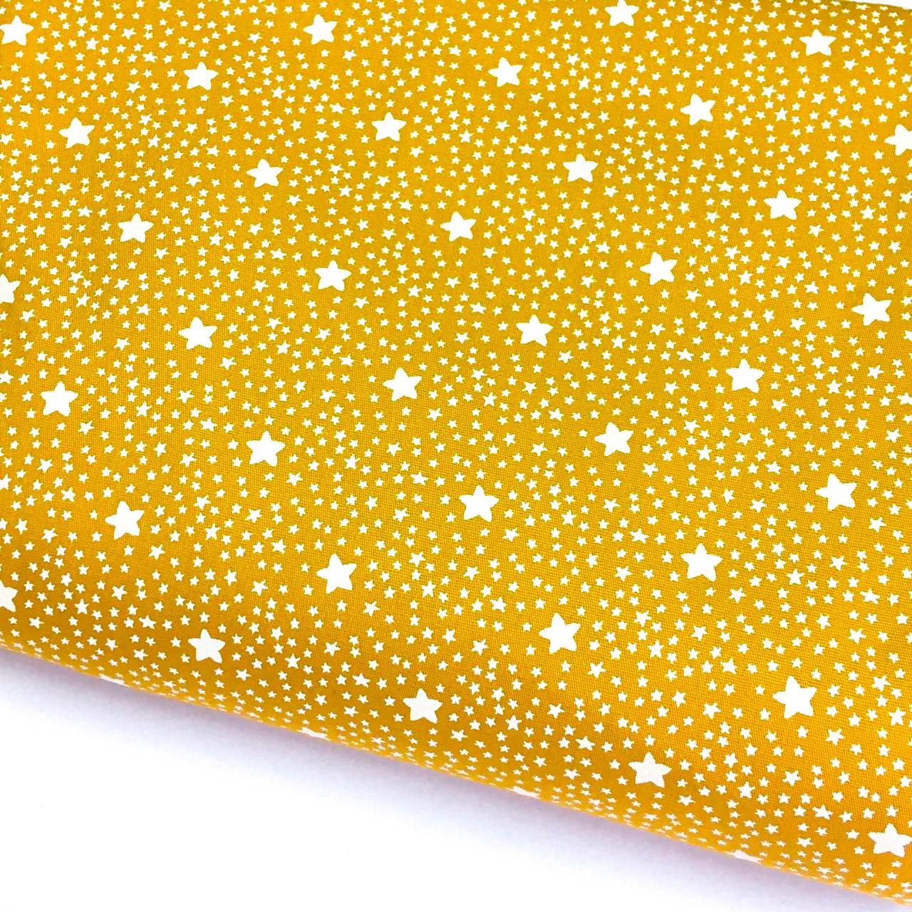 Tecido Estrelado Mostarda (Coleção Estrelinhas Basics & Colors)