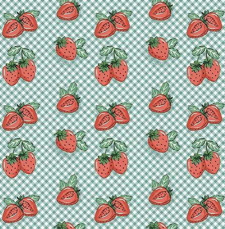 Tecido Mini Morangos (Coleção Frutas)