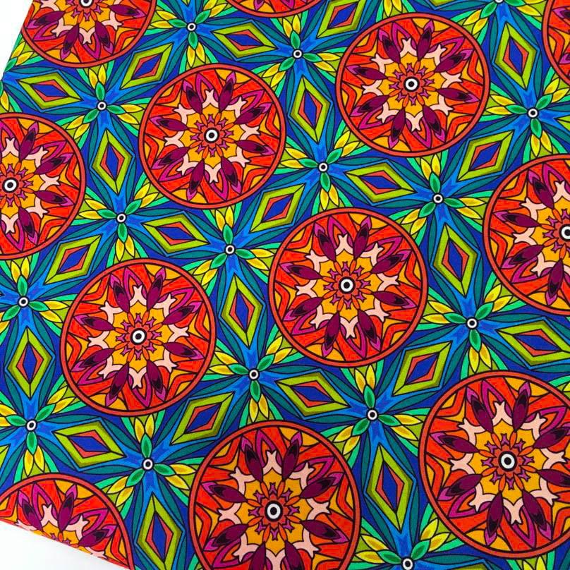 Tecido Digital Mandalas India Floral Royal