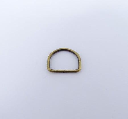 Passador de Alça Meia Argola 1,5cm Ouro Velho