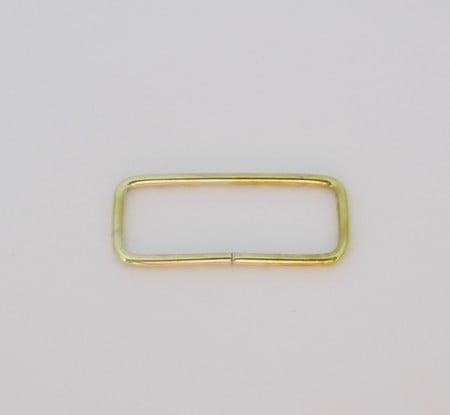 Passador de Alça Retangular baixo 3cm Dourado