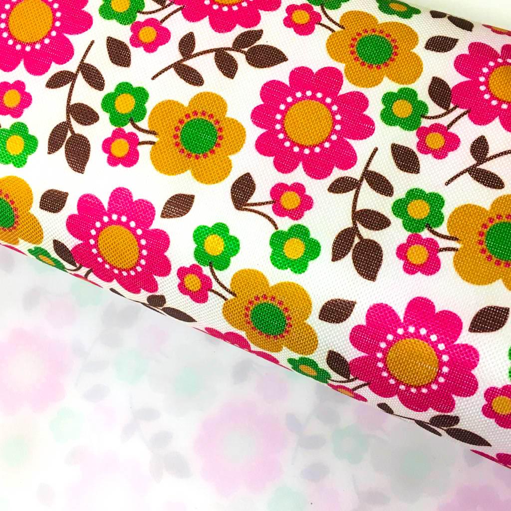 Nylon 600 Floral Fd Branco