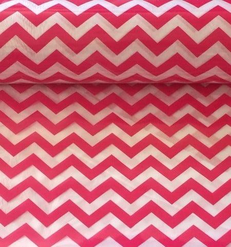 Plástico Cristal Chevron Pink (0,50 x 1,00)
