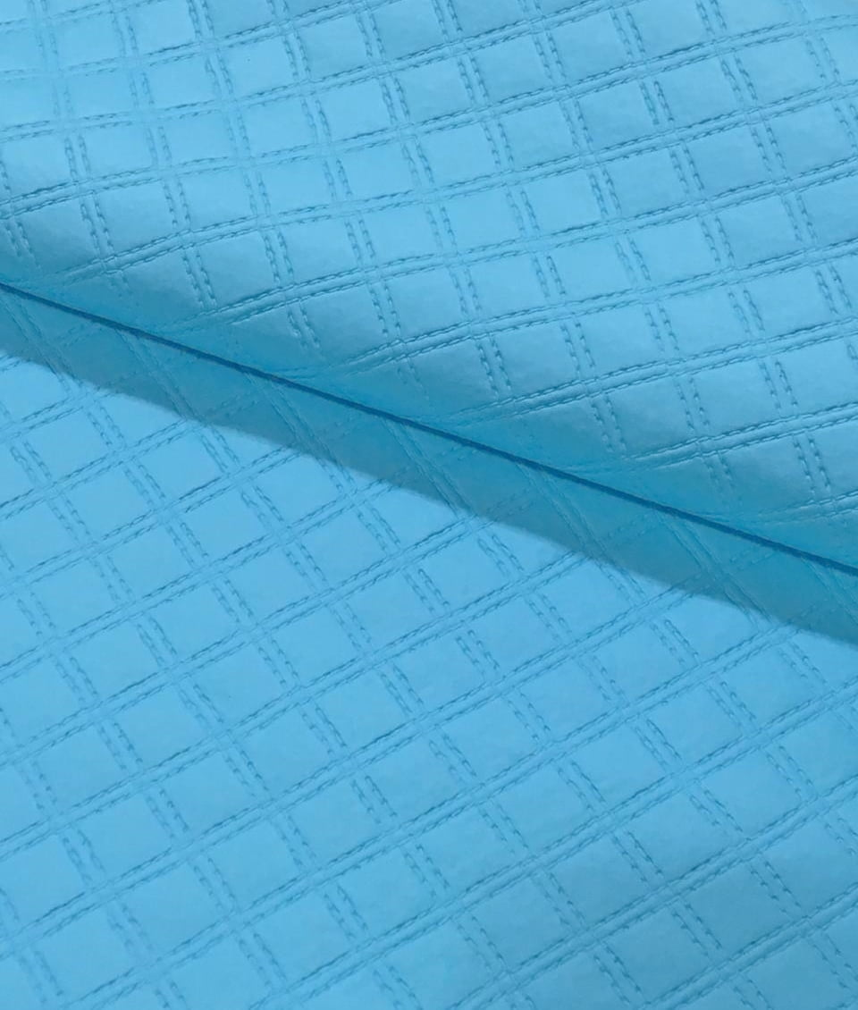 PVC Matelassado Duplo Chanel Azul