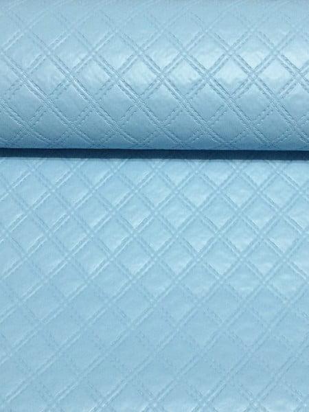 PVC Matelassado Duplo Chanel Azul Claro
