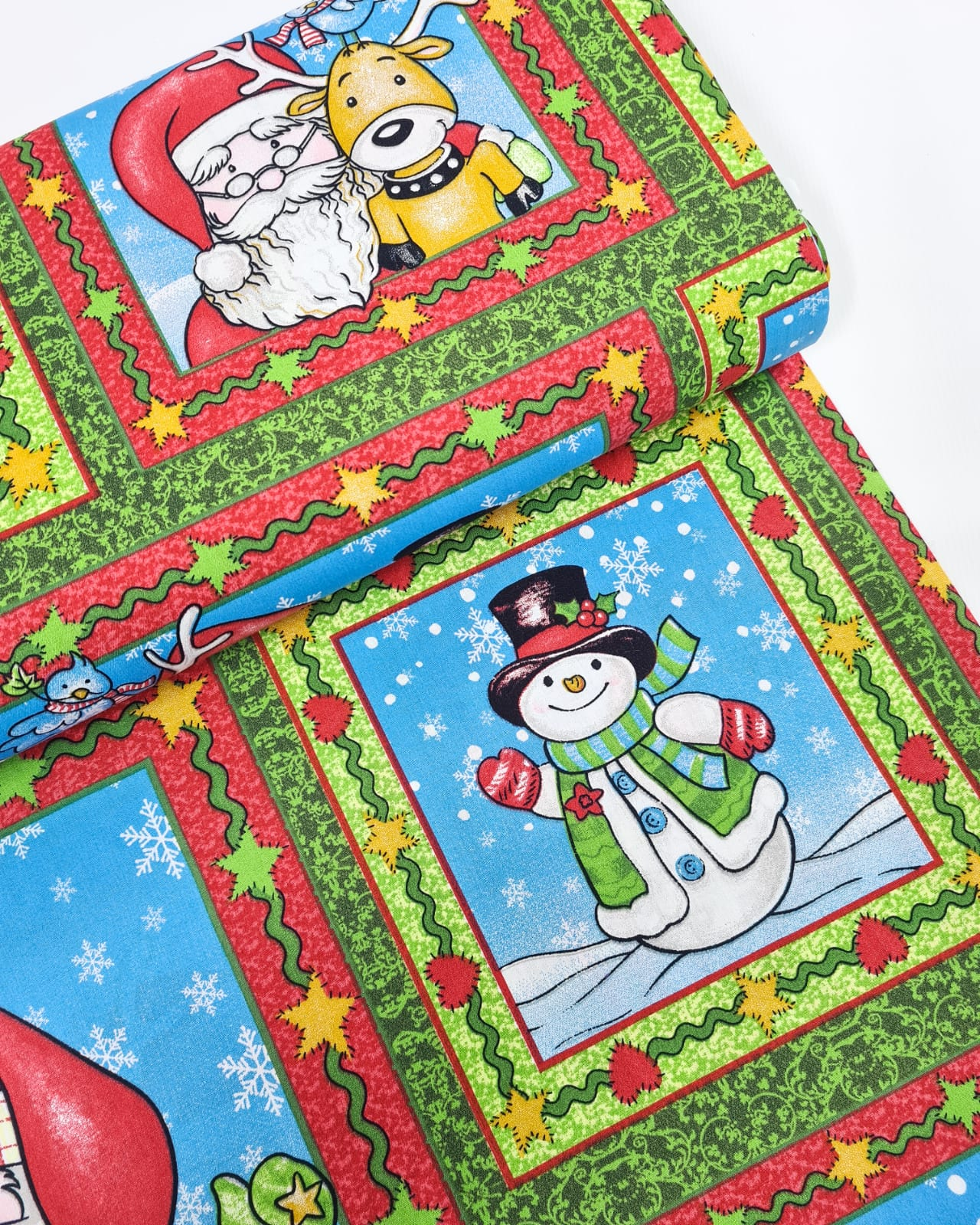 Tecido Painel Boneco de Neve (0,60x1,50)