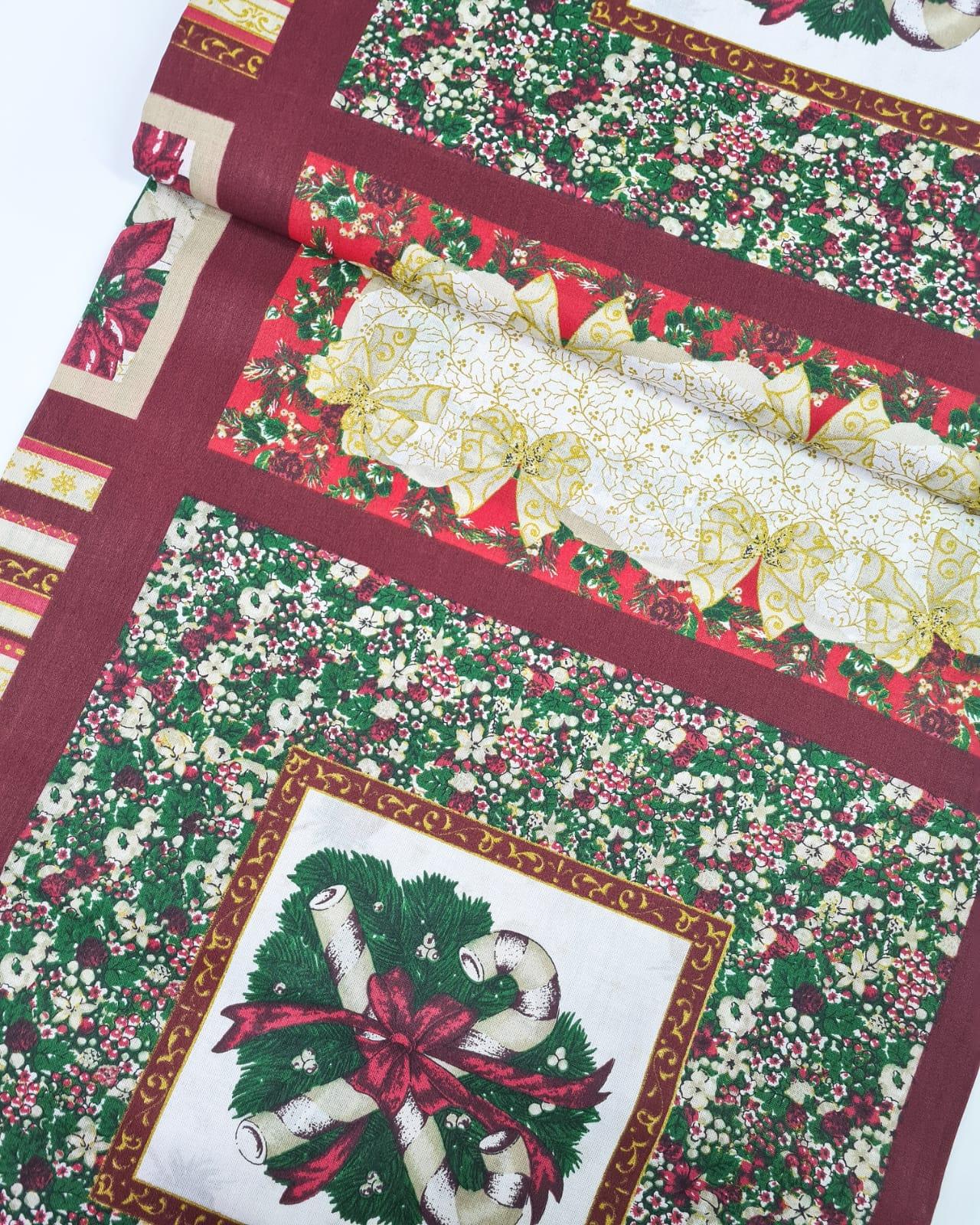 Tecido Painel Natal Vermelho (0,60x1,50)
