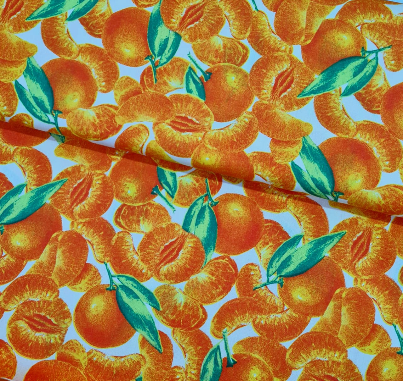 Tecido Tangerina Fd Amarelo Claro