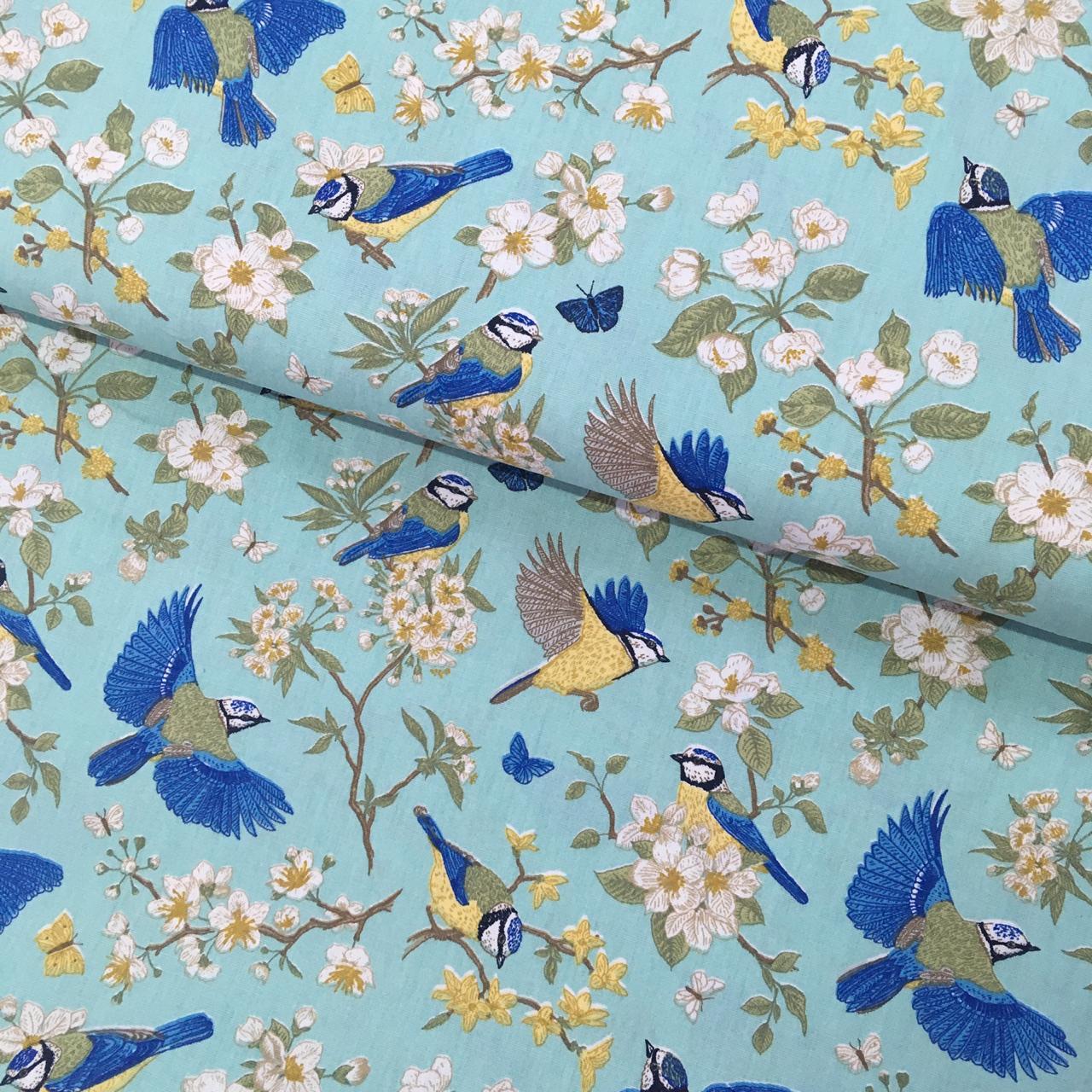 Tecido Blue Birds