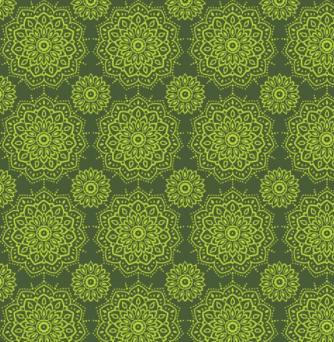Tecido Mandalinhas Verde (Coleção Namastê)