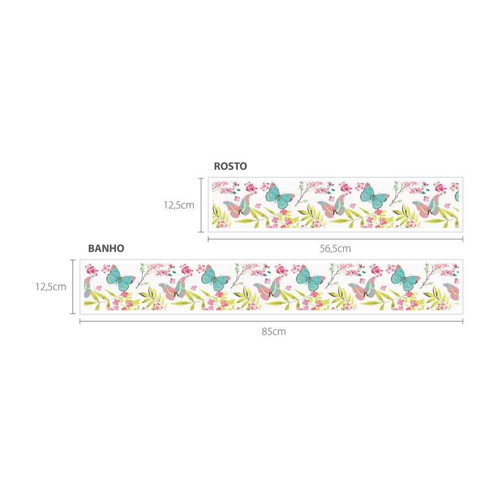 Faixa Digital Toalha de Banho + Rosto Ref 6063 Borboleta