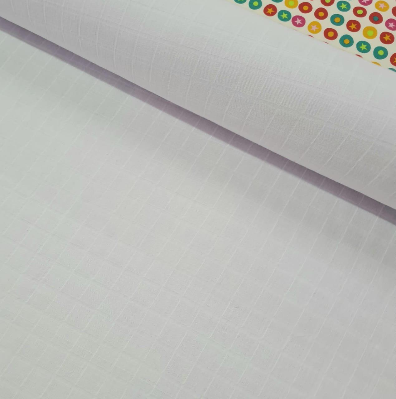 Tecido Fralda Mini Quadriculada  > 100% Algodão > Preço 50 x 75cm