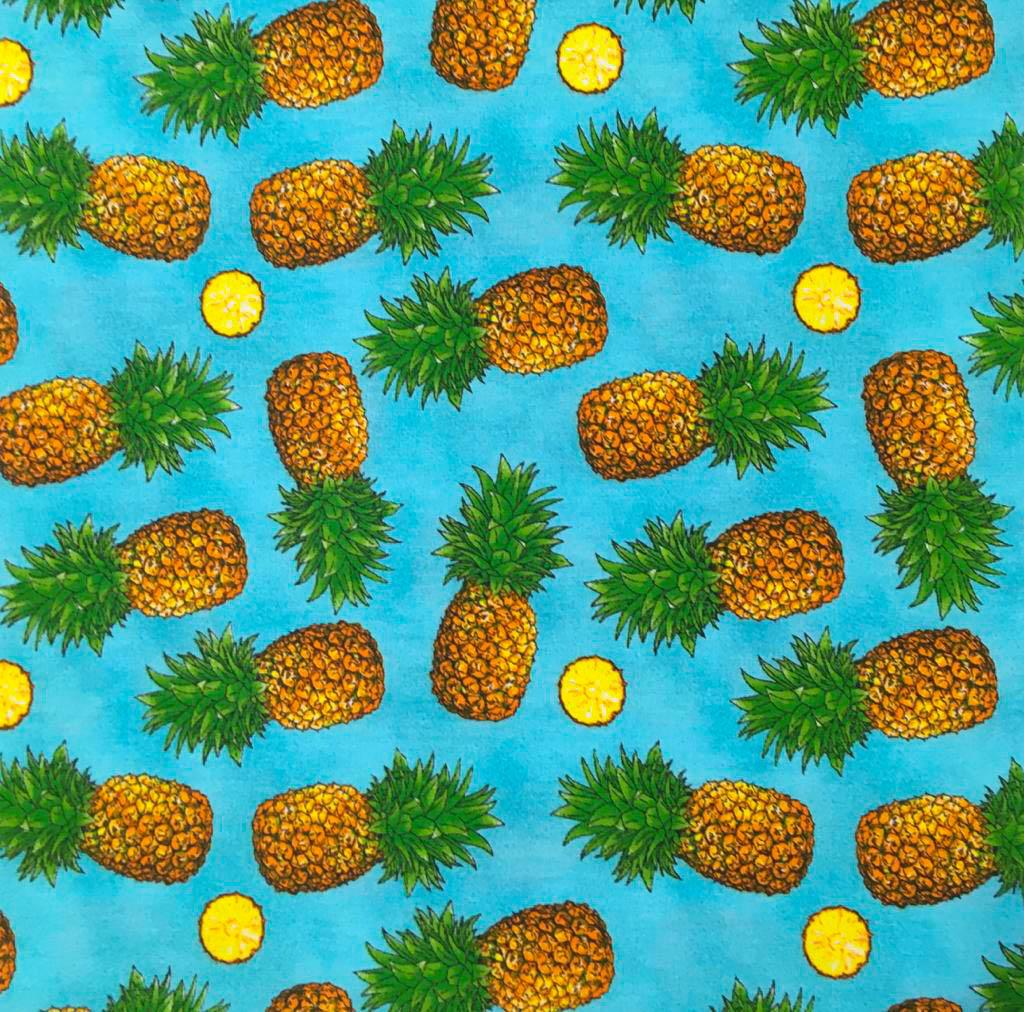 Tecido Abacaxi Pineapple Azul