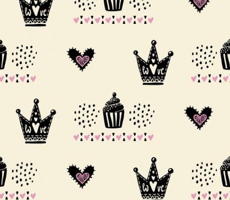 Tecido Pink Crown