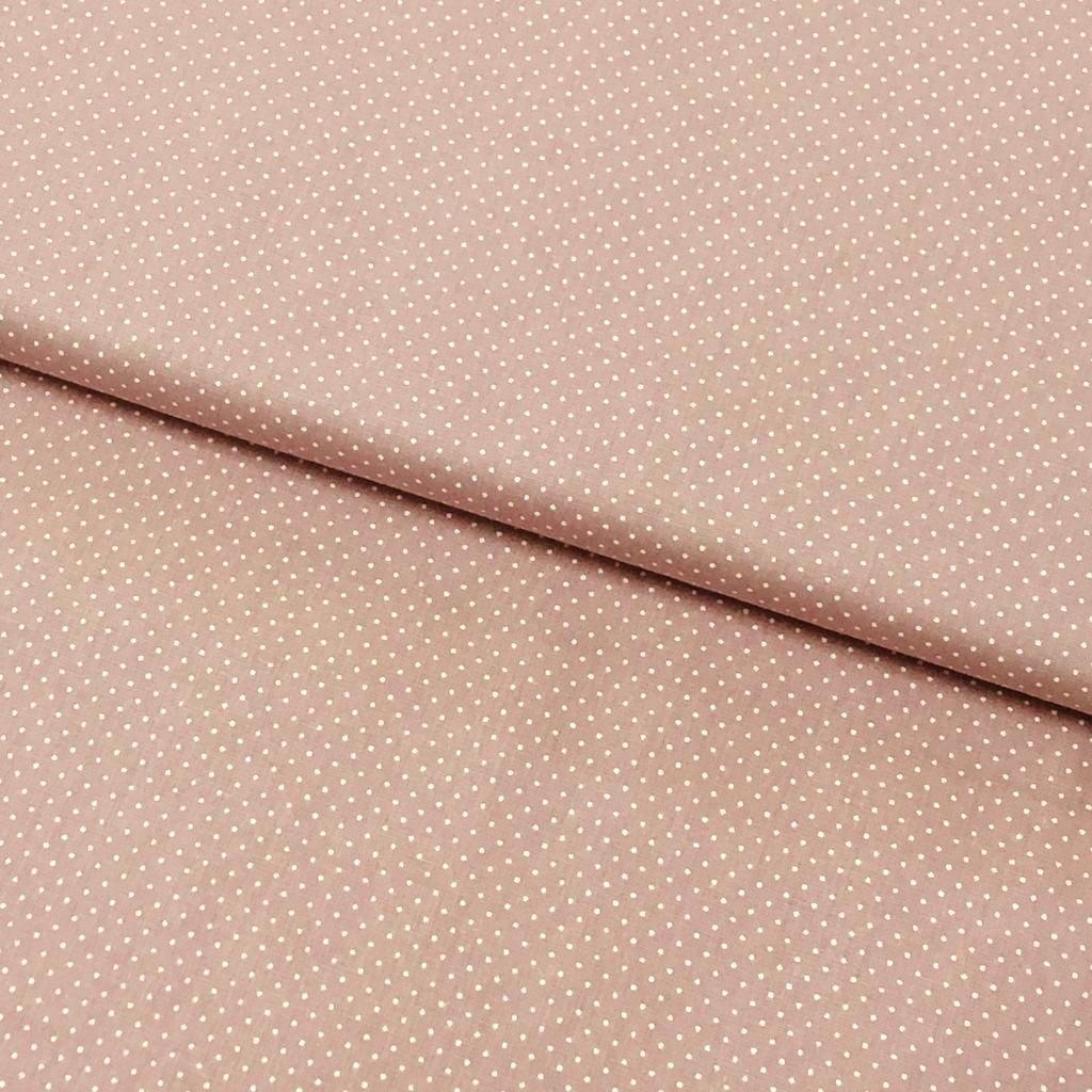 Tecido Micro Poá Branco Fd Rose Blush