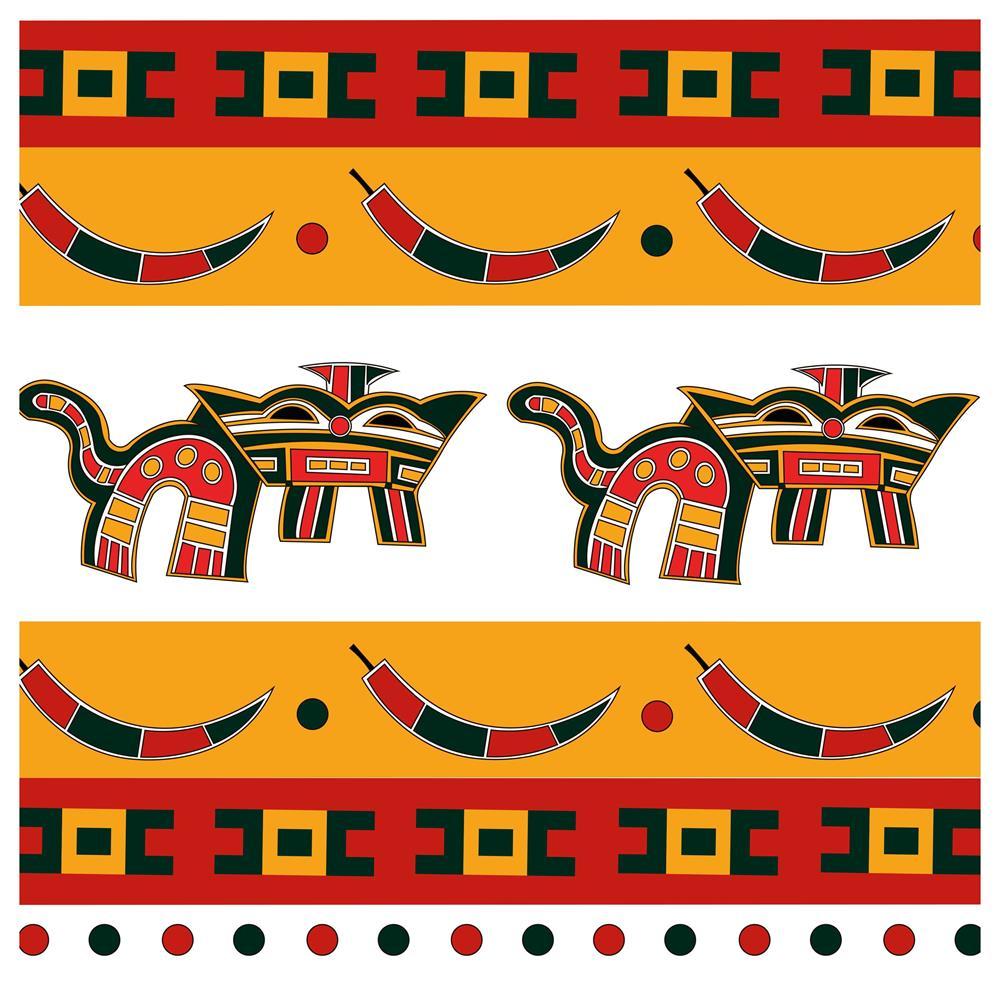 Tecido Digital Painel Almofada Ref 8113 Étnica