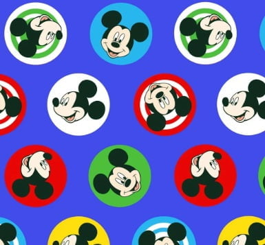 Tecido Mickey Buttons