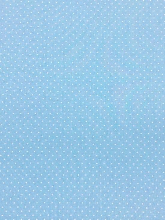Tecido Poá P Branco Fd Azul