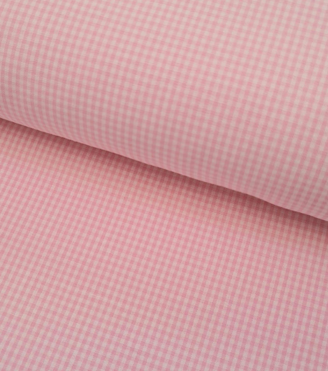 Tecido Micro Xadrez Rosa
