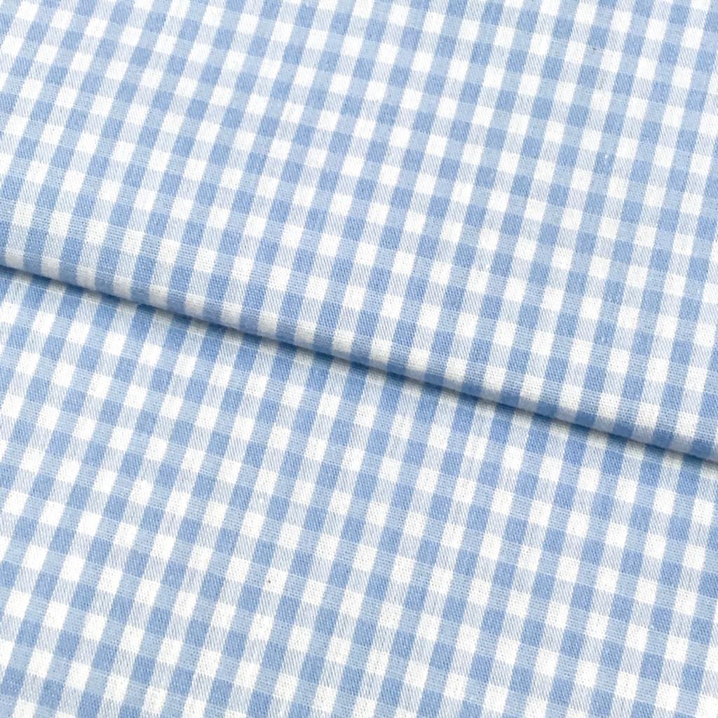 Tecido Xadrez Médio Azul Claro