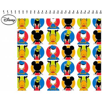 Tecido Mickey e Amigos