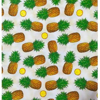 Retalho Tecido Abacaxi Pineapple Bege (50x36cm)