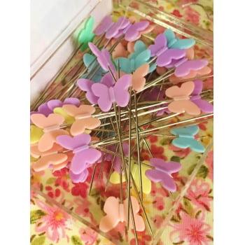 Alfinete Coloridos para Patchwork Borboletas (Candy Color)