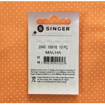 Agulha Singer 2045 100/16 para Malha com 10 unidades